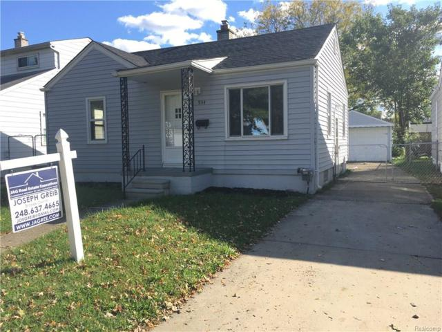 934 E Shevlin Ave, Hazel Park, MI 48030 (MLS #217094057) :: The Peardon Team