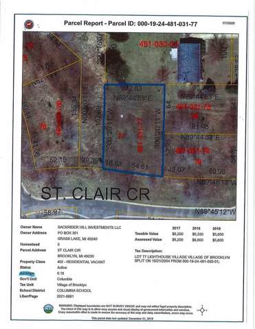 St Clair St 0,Lot A, Update, MI 49230 (MLS #202000145) :: The Tom Lipinski Team at Keller Williams Lakeside Market Center