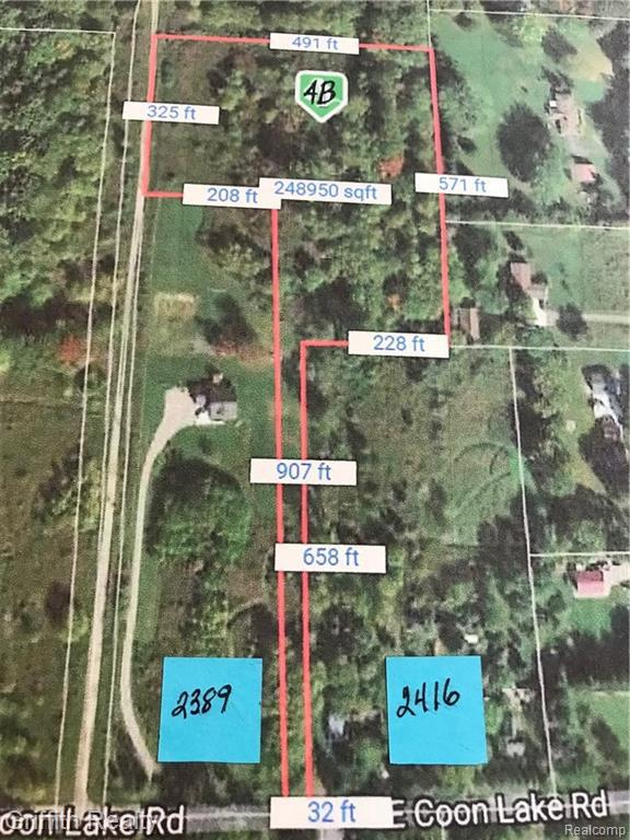 0 Coon Lake Rd, Howell, MI 48843 (MLS #219035499) :: The John Wentworth Group
