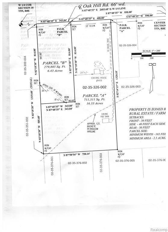 0 Oakhill Rd, Holly, MI 48442 (MLS #219055926) :: The John Wentworth Group