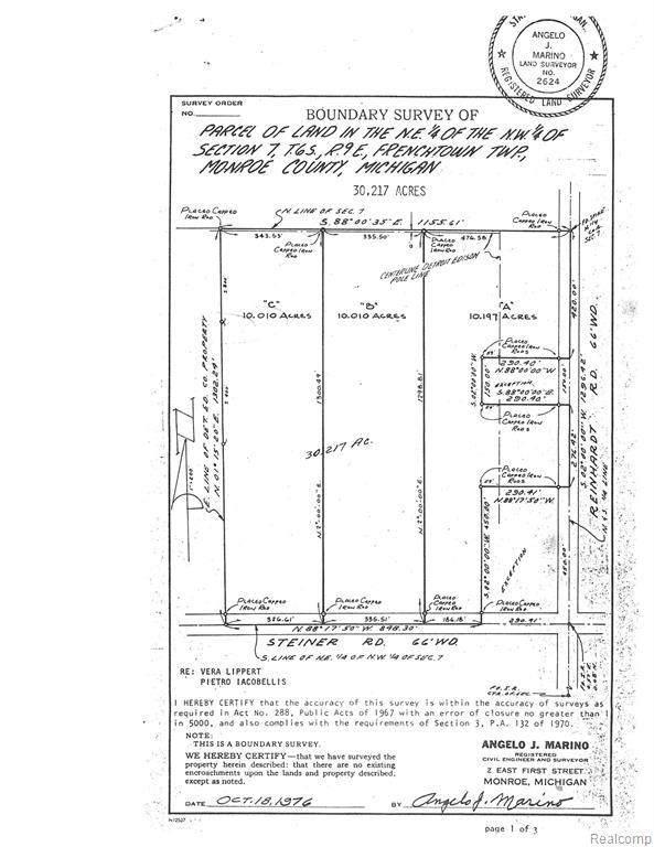 0 Steiner, Monroe, MI 48162 (MLS #2210005308) :: The BRAND Real Estate