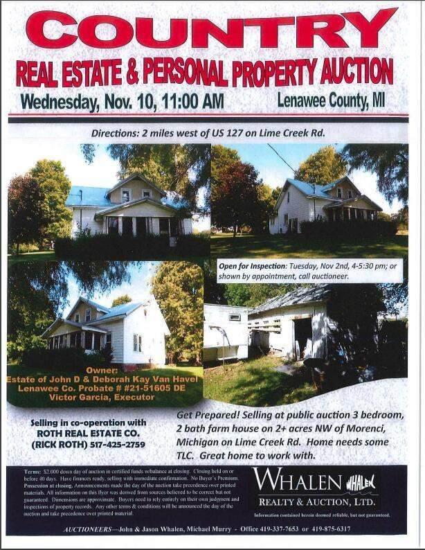 15270 Lime Creek Road, Hudson, MI 49247 (MLS #21110781) :: Kelder Real Estate Group