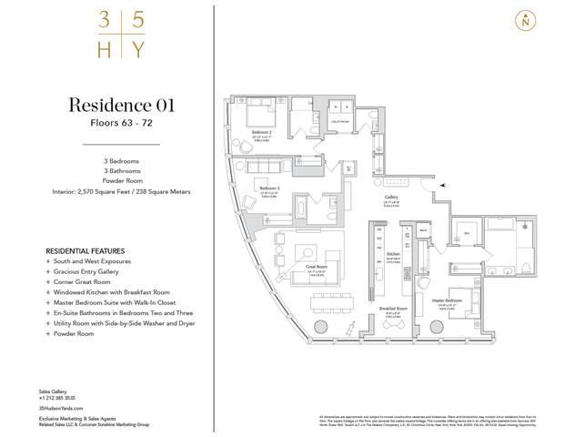 35 Hudson Yards #6601, NEW YORK, NY 10001 (MLS #CORC-5937063) :: RE/MAX Edge