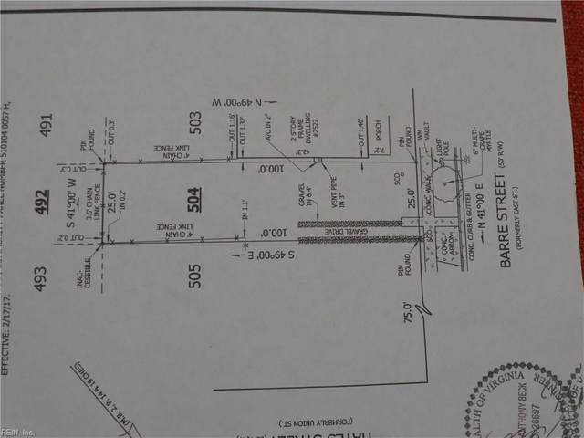 2524 Barre (Lot Sold Only) St, Norfolk, VA 23504 (#10313845) :: Abbitt Realty Co.