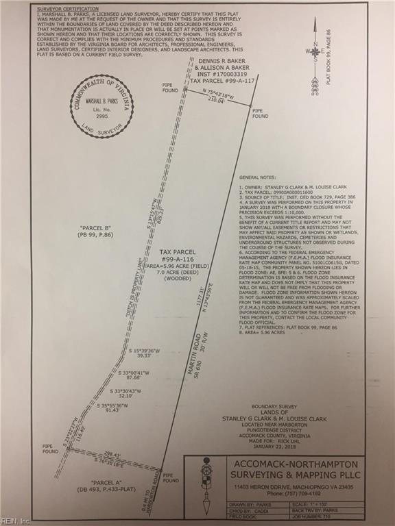 LOT116 Martin Rd, Accomack County, VA 23422 (MLS #10222633) :: Chantel Ray Real Estate