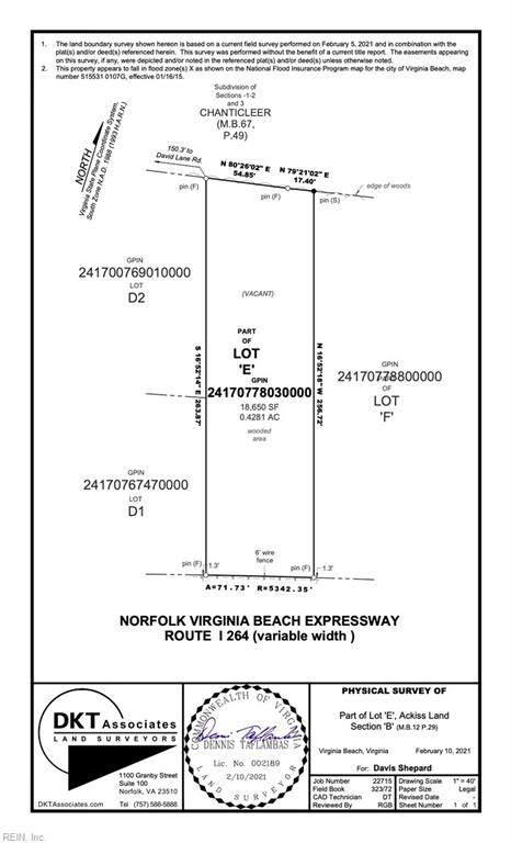 Lot E Taureau Ct, Virginia Beach, VA 23454 (#10361552) :: Crescas Real Estate