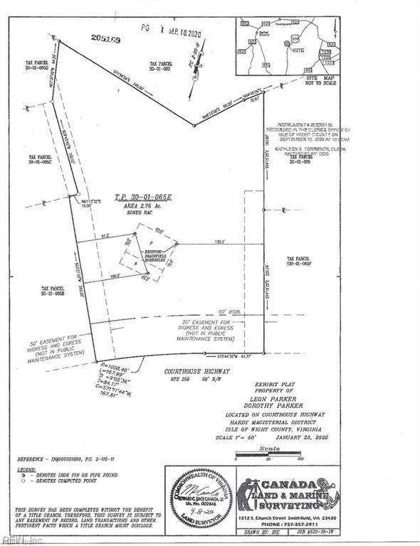 2.76ac Courthouse Hwy, Isle of Wight County, VA 23430 (#10398811) :: The Kris Weaver Real Estate Team