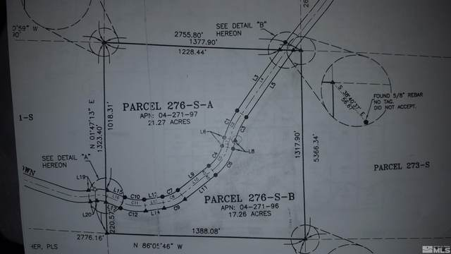 Lot 276S-A 40S Westerly Ptn Virginia Ranches, Virginia City, NV 89521 (MLS #210015955) :: Colley Goode Group- CG Realty