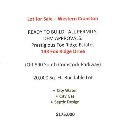 143 Fox Ridge Drive, Cranston, RI 02921 (MLS #1271198) :: Onshore Realtors
