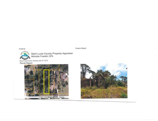 Tbd 00 San Diego Avenue, Fort Pierce, FL 34950 (MLS #RX-10544984) :: Castelli Real Estate Services
