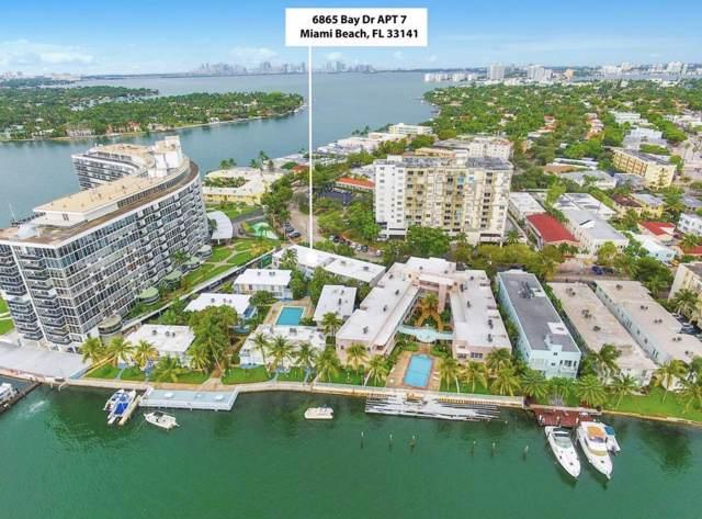 6865 Bay Drive #7, Miami Beach, FL 33141 (MLS #RX-10568465) :: Castelli Real Estate Services