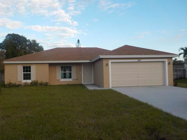 349 NW Hibiscus Street, Port Saint Lucie, FL 34983 (MLS #RX-10583956) :: Berkshire Hathaway HomeServices EWM Realty