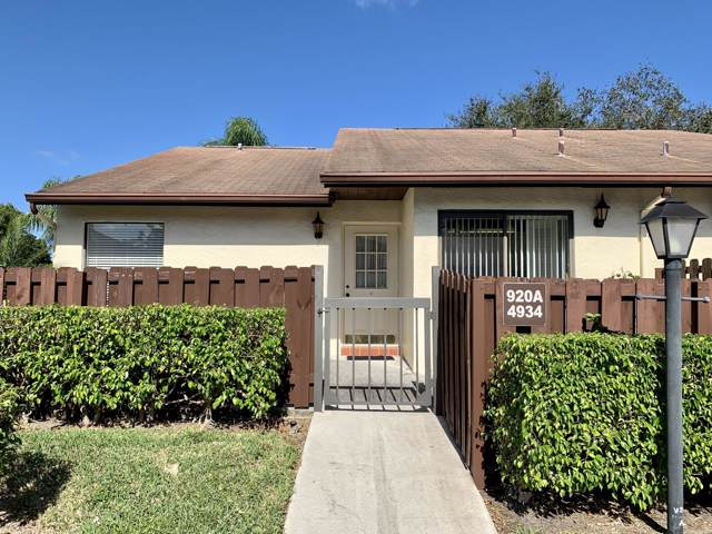 4934 Sable Pine Circle A, West Palm Beach, FL 33417 (#RX-10594752) :: Ryan Jennings Group