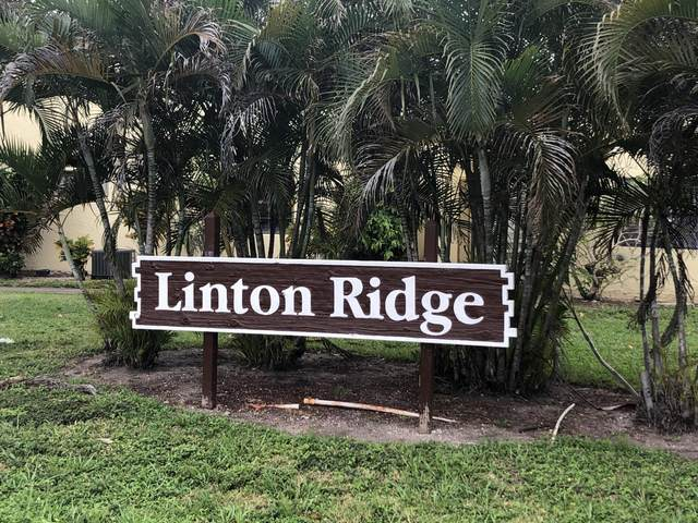 2323 Linton Ridge Circle D12, Delray Beach, FL 33444 (#RX-10603410) :: Ryan Jennings Group