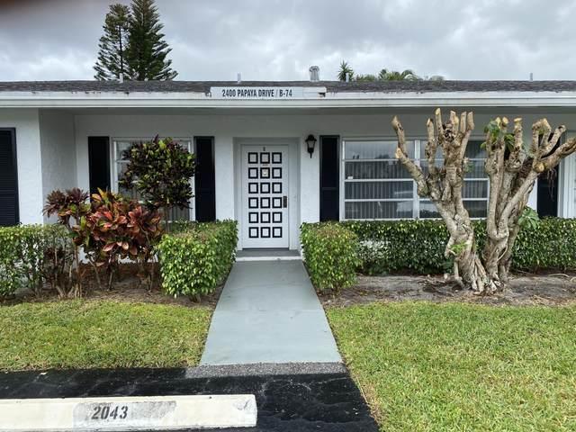 2400 Papaya Drive B, Delray Beach, FL 33445 (#RX-10610964) :: Ryan Jennings Group