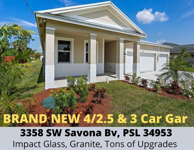 3358 SW Savona Boulevard, Port Saint Lucie, FL 34953 (#RX-10636520) :: Ryan Jennings Group