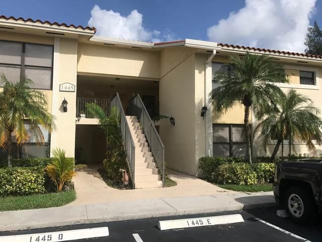 1445 Lake Crystal Drive D, West Palm Beach, FL 33411 (MLS #RX-10656017) :: Berkshire Hathaway HomeServices EWM Realty