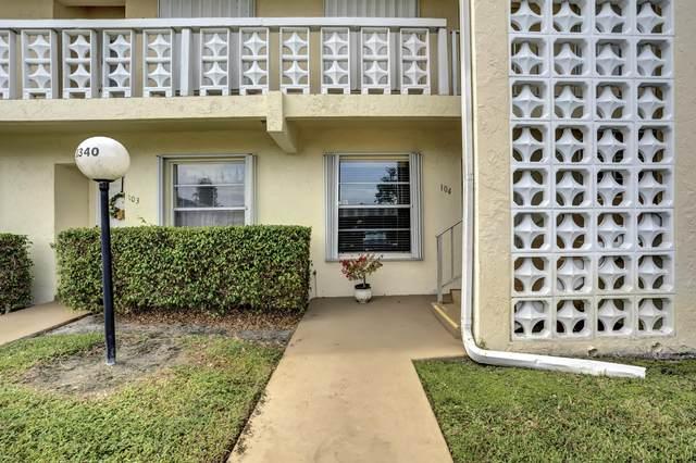 1340 NW 19th Terrace #104, Delray Beach, FL 33445 (#RX-10660715) :: Posh Properties