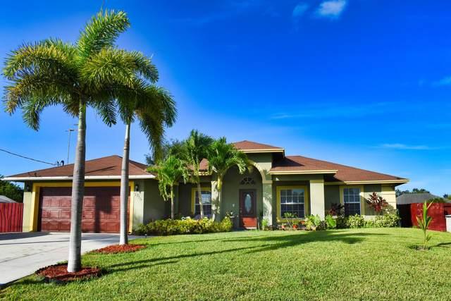3716 SW Lafleur Street, Port Saint Lucie, FL 34953 (MLS #RX-10662827) :: Berkshire Hathaway HomeServices EWM Realty