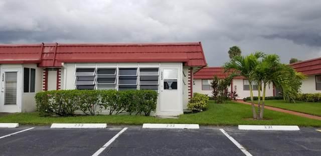 233 Waterford J, Delray Beach, FL 33446 (#RX-10664994) :: Ryan Jennings Group