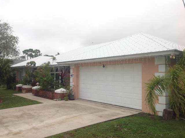 417 NE Midvale Street, Port Saint Lucie, FL 34983 (MLS #RX-10678459) :: Laurie Finkelstein Reader Team