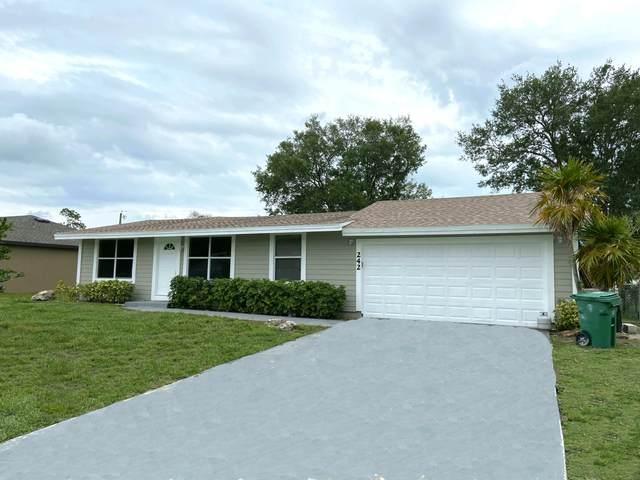 242 SW Starfish Avenue, Port Saint Lucie, FL 34984 (MLS #RX-10709974) :: The Jack Coden Group