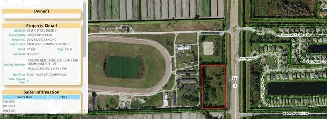7635 S State Road 7 Road, Lake Worth, FL 33449 (MLS #RX-10730520) :: Castelli Real Estate Services
