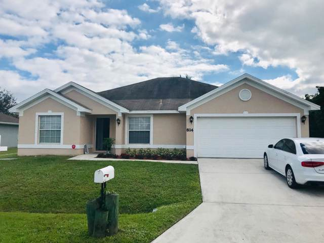814 SW Juliet Avenue, Port Saint Lucie, FL 34953 (MLS #RX-10566300) :: Berkshire Hathaway HomeServices EWM Realty