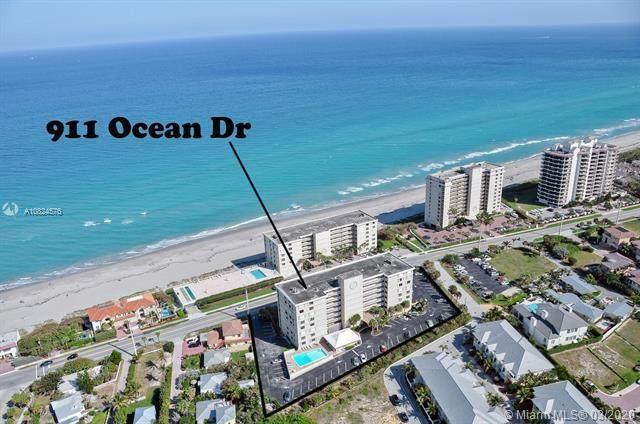 911 Ocean Drive #202, Juno Beach, FL 33408 (MLS #RX-10626001) :: Laurie Finkelstein Reader Team