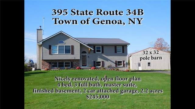 395 State Route 34B, Genoa, NY 13081 (MLS #R1258892) :: Updegraff Group