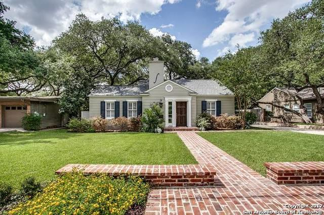 236 W Fair Oaks Pl, Alamo Heights, TX 78209 (MLS #1251627) :: Exquisite Properties, LLC