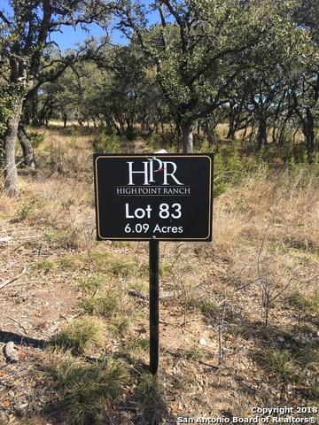 LOT 83 High Point Ranch Rd, Boerne, TX 78006 (MLS #1290912) :: Magnolia Realty