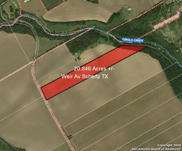 20.84 ACRES Weir Rd, Schertz, TX 78108 (MLS #1296513) :: The Castillo Group
