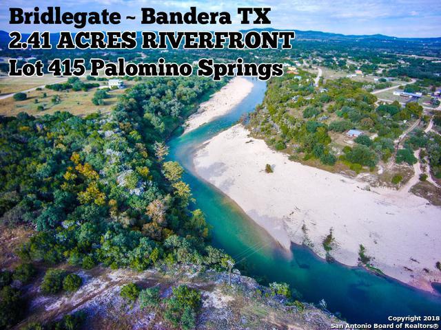 LOT 415 Palomino Spgs, Bandera, TX 78003 (MLS #1347261) :: The Suzanne Kuntz Real Estate Team