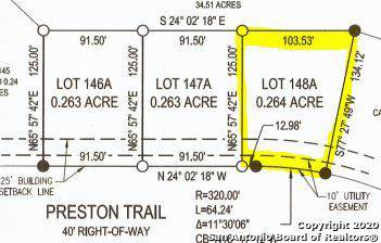 LOT 148A Preston Trl, Boerne, TX 78006 (MLS #1433959) :: NewHomePrograms.com LLC