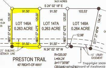 LOT 146A Preston Trl, Boerne, TX 78006 (MLS #1433960) :: NewHomePrograms.com LLC
