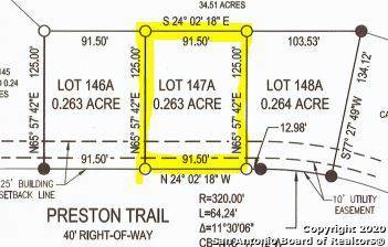 LOT 147A Preston Trl, Boerne, TX 78006 (MLS #1433961) :: NewHomePrograms.com LLC