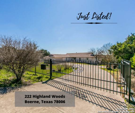 222 Highland Woods, Boerne, TX 78006 (MLS #1439607) :: The Glover Homes & Land Group