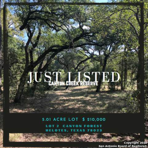 LOT 2 Canyon Frst, Helotes, TX 78023 (MLS #1485929) :: The Mullen Group | RE/MAX Access