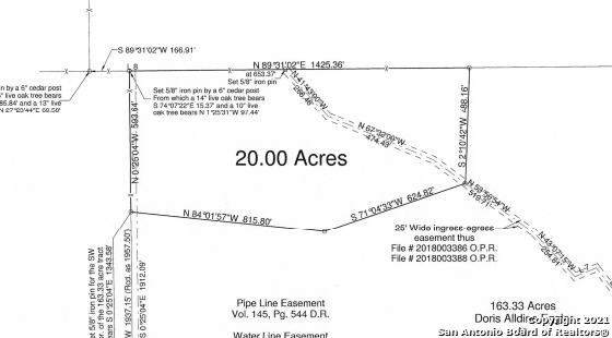 0 25 Ft Easement From Cr 251, Hondo, TX 78861 (MLS #1506170) :: JP & Associates Realtors