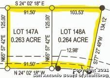 LOT 147A & 148A Preston Trl, Boerne, TX 78006 (MLS #1521360) :: The Lugo Group