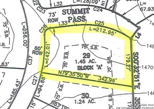LOT 29 Clubs & Summit Pass, Boerne, TX 78006 (MLS #1564928) :: The Curtis Team