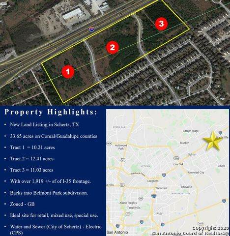 TRACT 1 S Ih 35, Schertz, TX 78154 (#1467431) :: The Perry Henderson Group at Berkshire Hathaway Texas Realty
