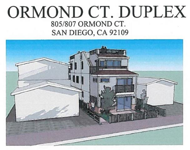 805-807 Ormond, San Diego, CA 92109 (#180050953) :: Neuman & Neuman Real Estate Inc.