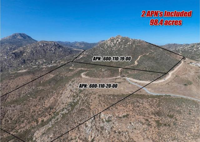 0000 Mother Grundy Truck Trail 19 & 20, Jamul, CA 91935 (#190001482) :: Steele Canyon Realty