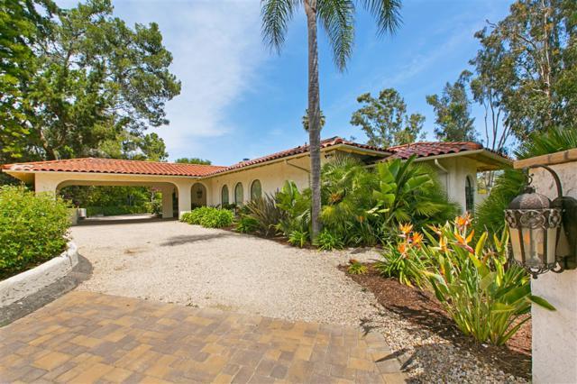 17501 Los Eucaliptos, Rancho Santa Fe, CA 92067 (#190020239) :: Whissel Realty