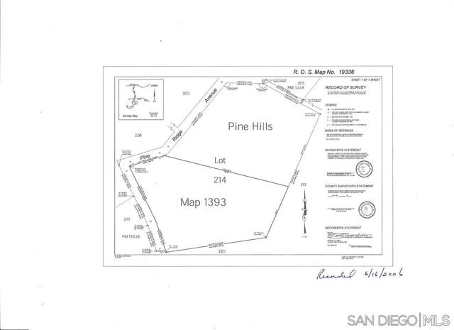 000 Pine Ridge Ave. #000, Julian, CA 92036 (#190036800) :: Cane Real Estate