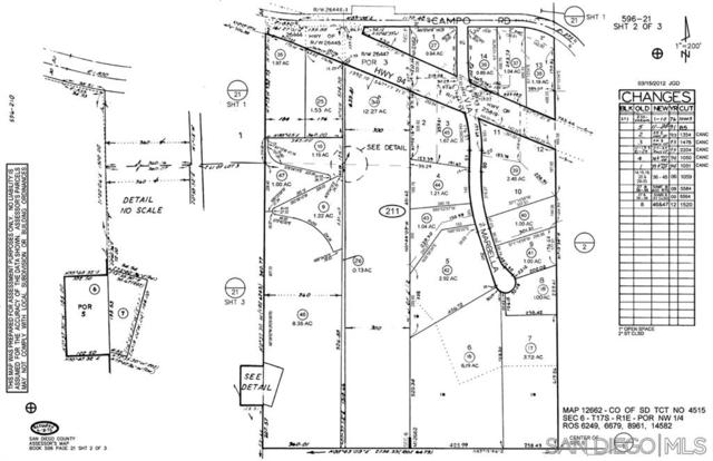 hwy 94 E 1/2 Mile East Millar Ranch Rd. S. Side Top Of Hill 09 47, Jamul/El Cajon/spring valley on edge of all three, CA 91978 (#190038534) :: Whissel Realty