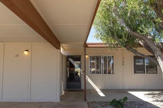 3184 Club Cir E #12, Borrego Springs, CA 92004 (#190056355) :: Whissel Realty
