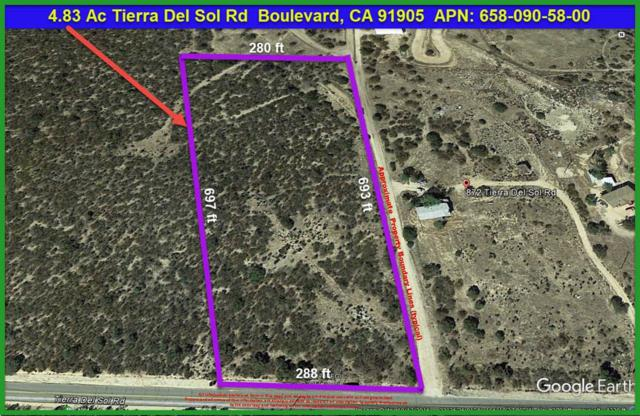 4.83 Ac Tierra Del Sol Rd #58, Boulevard, CA 91905 (#170031875) :: The Yarbrough Group